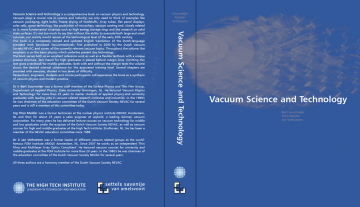 Settels Co-publisher of Vacuum Technology book