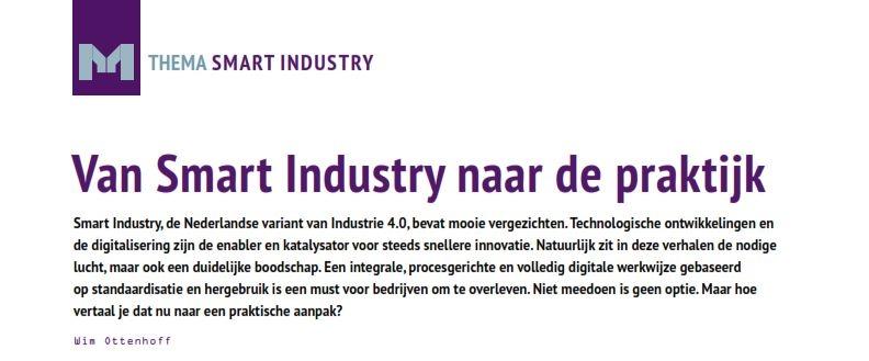 Van Smart Industry naar de praktijk M&M nr.2 2016